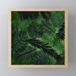 Green Foliage Framed Mini Art Print