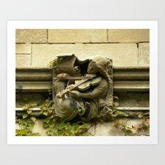Musician Gargoyle, University of Chicago v.3 Art Print