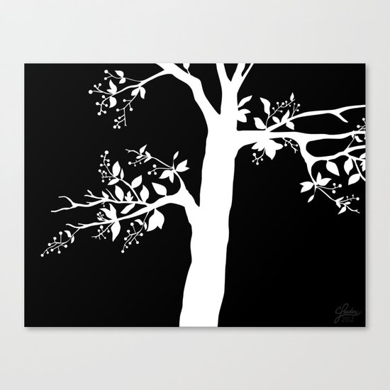 Chokecherry Tree Canvas Print