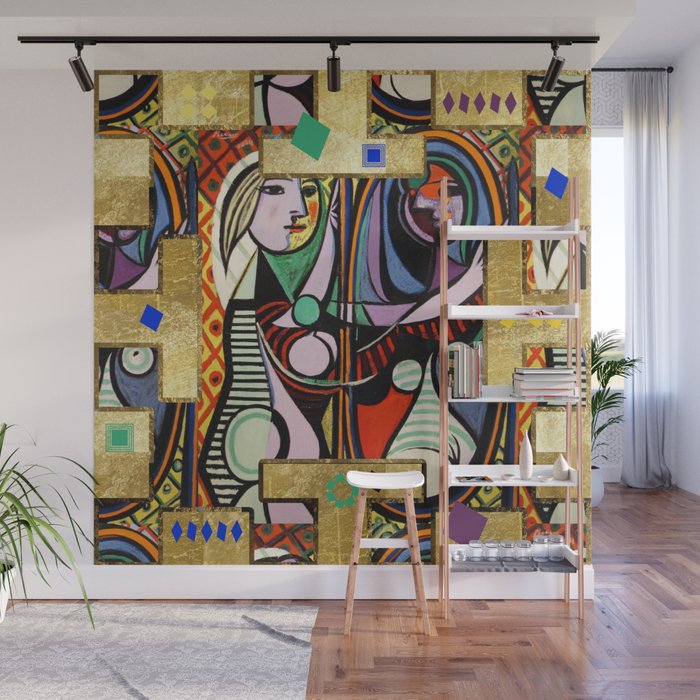 Picasso Collage Wall Mural By Lalachandra Society6