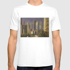 Cityscape MEDIUM White Mens Fitted Tee