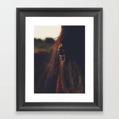 Horse, macro photography, head, mane, sunset, hasselblad, italy, horses Framed Art Print