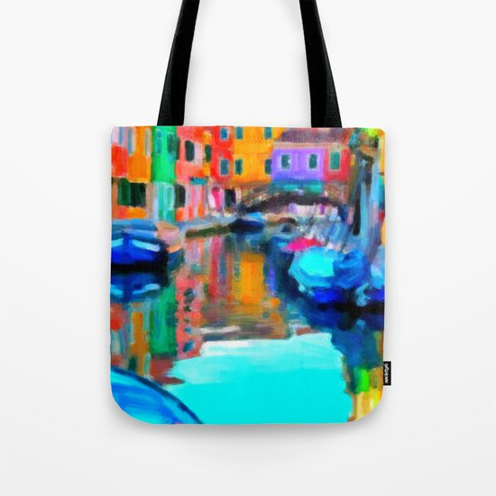 Colors In Venice - Painting Style Tote Bag