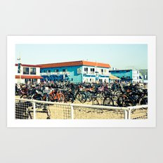 Bicycle Parking Lot Art Print