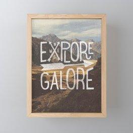 EXPLORE GALORE Framed Mini Art Print