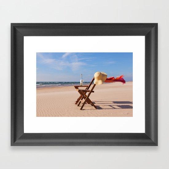 Windy Beach Day Framed Art Print