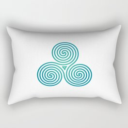 St. Patrick's Day Celtic Blue Triskelion #2 Rectangular Pillow