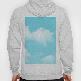 Aqua Blue Clouds Hoody