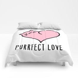 Cat heart Comforters