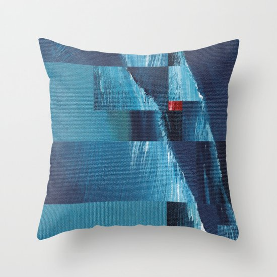 Cracking Waves (Distant Shore) Throw Pillow