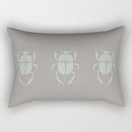 Muted green grey scarab Rectangular Pillow