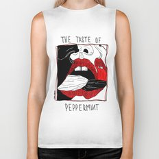 The taste of peppermint Biker Tank