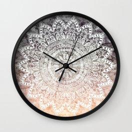 BOHEMIAN HYGGE MANDALA Wall Clock