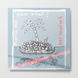 Plastic Isle Metal Print