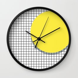 Memphis Yellow Wall Clock