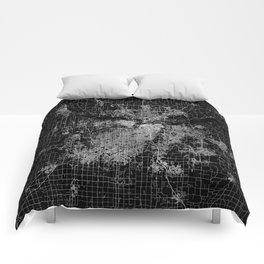Kansas City map Comforters