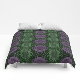 Weird Purple and Green Tentacle Print Comforters