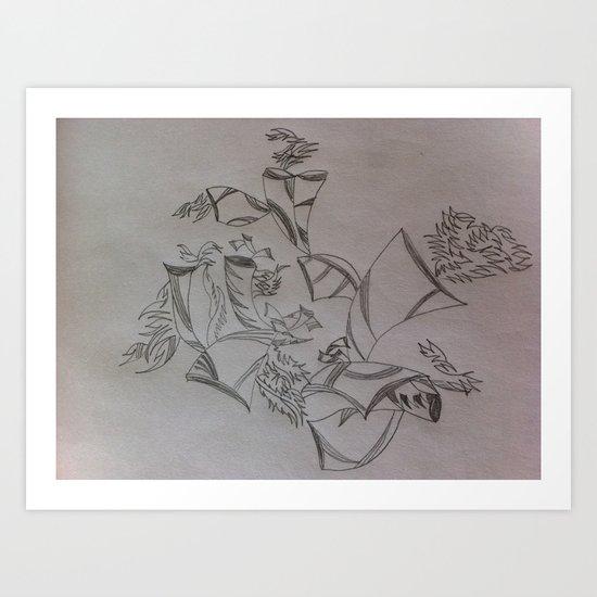 Bull Horns Art Print