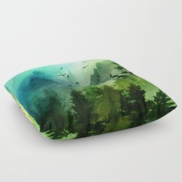 Mountain Morning Floor Pillow