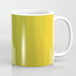 Shades of Grass - Line Gradient Pattern between Lime Green and Bright Yellow Coffee Mug