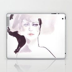 Fashion illustration in pale colors Laptop & iPad Skin
