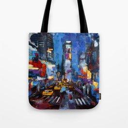 Saturday Night in Times Square Tote Bag