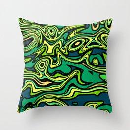 Green fantasy Throw Pillow