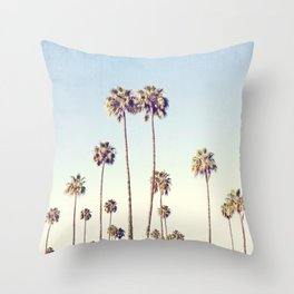 Cali Palms Throw Pillow