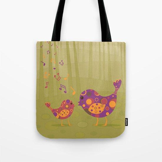 Bird Duet Tote Bag