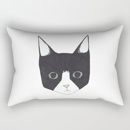Henry the Tuxedo Cat Rectangular Pillow