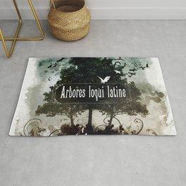 arbores loqui latine Rug