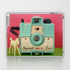 Imperial Horse (Blue Camera, Toy Horse) Laptop & iPad Skin