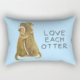 Love each otter Rectangular Pillow