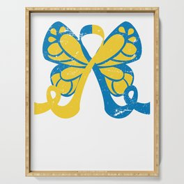 Down Syndrome Awareness Butterfly Serving Tray