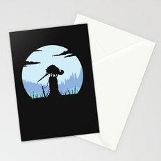 Grey Wolf Sif (Dark Souls) - in black Stationery Cards