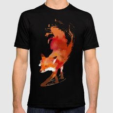 Vulpes vulpes Mens Fitted Tee MEDIUM Black