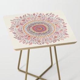 Sunflower Mandala Side Table
