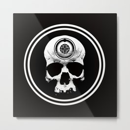 Hulverhead: Skull Logo Metal Print