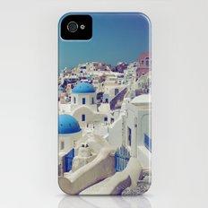 Blue Domes, Oia, Santorini, Greece iPhone (4, 4s) Slim Case