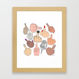 Middle Fingers Framed Art Print