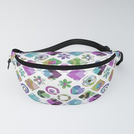 Lilac blue abstract Fanny Pack
