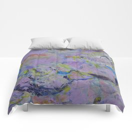 Floweres in Violet(1) 2015 Comforters
