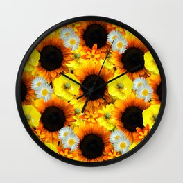 Sunflowers - Shades of yellow Wall Clock