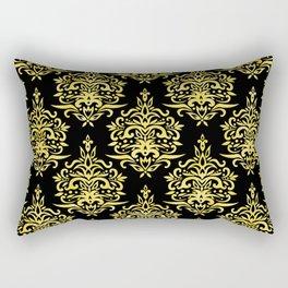 Art Deco Gold and Black Elegance Design Rectangular Pillow