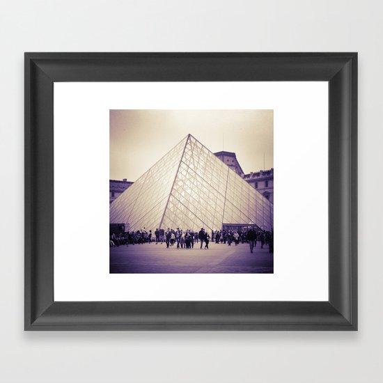 The Purple Pyramid Framed Art Print