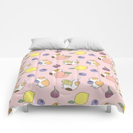 Guinea pig and fruits pattern Comforters