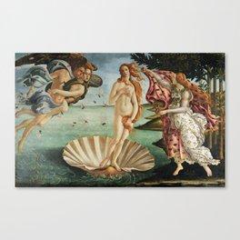 The Birth of Venus by Sandro Botticelli, 1445 Canvas Print