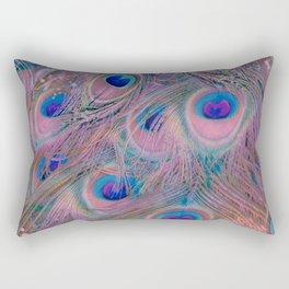 Sugar Peacock Feathers Rectangular Pillow