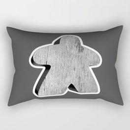 Giant White Meeple Rectangular Pillow