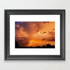 In the Middle of the Storm Framed Art Print